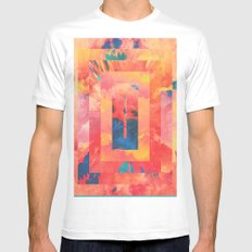 Introspection MEDIUM White Mens Fitted Tee