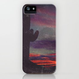 Darkness In The Desert - America As Vintage Album Art iPhone Case