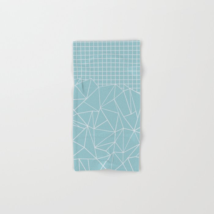 Ab Outline Grid Salty Hand & Bath Towel