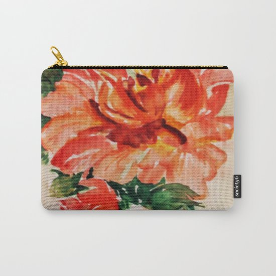 red rose japanese art Carry-All Pouch