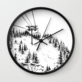 Ski Lift Wall Clock