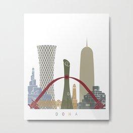 Doha skyline poster Metal Print