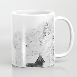 Winter Forest (Black and White) Coffee Mug