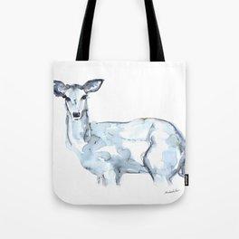Deer Watercolor Sketch Tote Bag