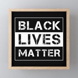 Equality BLM protest Black Lives Matter Framed Mini Art Print