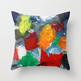 The Artist's Palette Throw Pillow