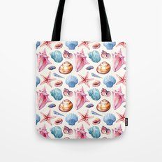 Seashells Pattern 1 - Colorful light Tote Bag