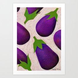 Eggplant Fun Art Print