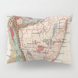 Vintage Geological Map of Madagascar (1922) Pillow Sham