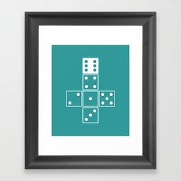 Unrolled D6 Framed Art Print