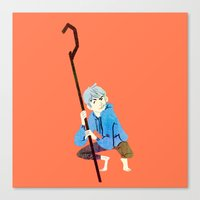 jack frost Canvas Prints featuring Jack Frost by Kaley Bales (polarbales)