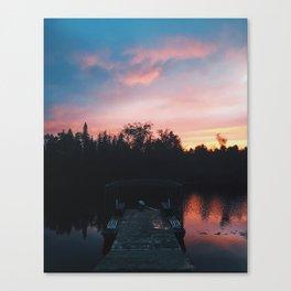 Sunsets on the Tahquamenon Canvas Print