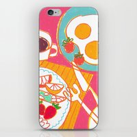 breakfast iPhone & iPod Skins featuring Breakfast by AW illustrations