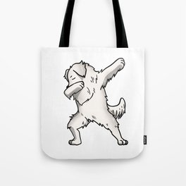 Funny Dabbing Great Pyrenees Dog Dab Dance Tote Bag
