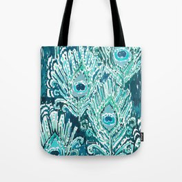 PEACOCKY - TEAL Tote Bag