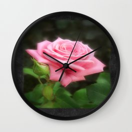 Pink Roses in Anzures 3 Blank P4F0 Wall Clock