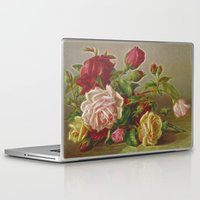 vintage flowers Laptop & iPad Skins featuring Vintage Flowers by Lucia