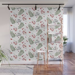 Winter Mistletoe Wall Mural