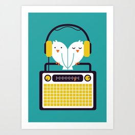 Radio Mode Love Art Print