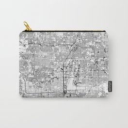 Las Vegas White Map Carry-All Pouch