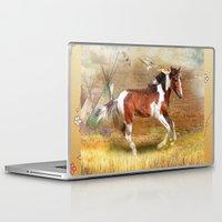 pony Laptop & iPad Skins featuring Apache Pony by Trudi Simmonds