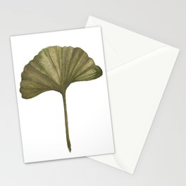 Green Ginko Leaf - Simple Minimalist Nature Stationery Cards