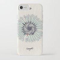 fibonacci iPhone & iPod Cases featuring Fibonacci by Jennifer Thy