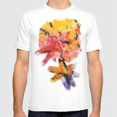 Abstraction on a tree MEDIUM White Mens Fitted Tee