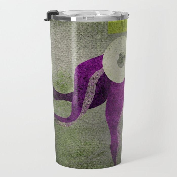 King octopus in grey Travel Mug