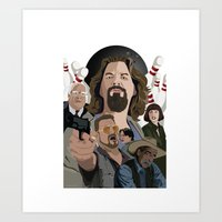 the big lebowski Art Prints featuring The Big Lebowski by Chad Trutt