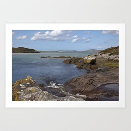Harris Coastline Art Print