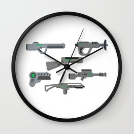 Futuristic Laser Guns Wall Clock