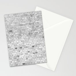 White Washed Brick Wall - Light White and Grey Wash Stone Brick Stationery Cards