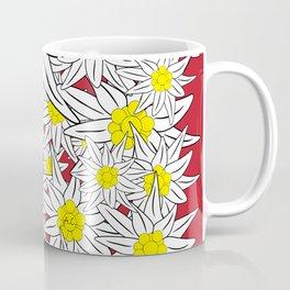 Bold Edelweiss Pattern Coffee Mug