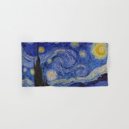 The Starry Night by Vincent van Gogh (1889) Hand & Bath Towel
