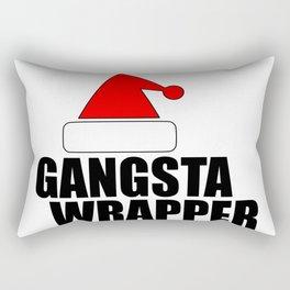 funny Xmas wrapper Santa hat Rectangular Pillow