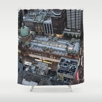 sydney Shower Curtains featuring Sydney  by Cynthia del Rio