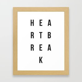 """The Heartbreak Sessions"" Framed Art Print"