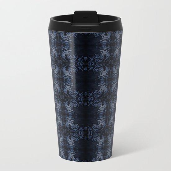 Death Driver Pattern (Medium) Metal Travel Mug