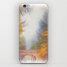 Autumn on the Canal iPhone Skin