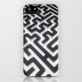 Maze Silver Black iPhone Case