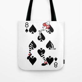 Sawdust Deck: The 8 of Spades Tote Bag