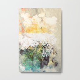 Abstract Seascape in pale yellow and green Metal Print