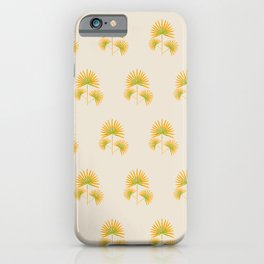 Fan Palm in Watercolor | Shades of Orange and green iPhone Case