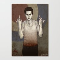 stiles stilinski Canvas Prints featuring Stilinski by Sudjino
