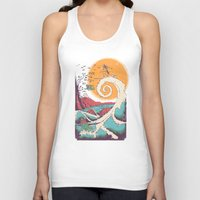 typo Tank Tops featuring Surf Before Christmas by Victor Vercesi
