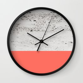 Living Coral on Concrete #1 #decor #art #society6 Wall Clock