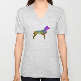 Slovakian Hound in watercolor Unisex V-Neck