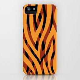 Large Golden Brown Tiger Animal Print iPhone Case