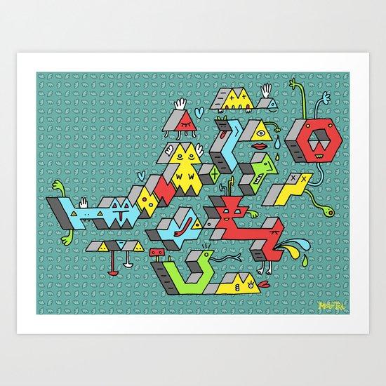 Blockheads Art Print